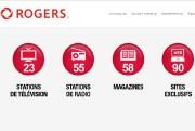 Le secteur des médias canadiens a été touché lundi... (Site Internet de Rogers) - image 2.0
