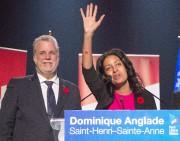 Dominique Anglade avec son chef, Philippe Couillard.... (Photothèque, La Presse Canadienne, Ryan Remiorz) - image 2.0