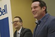 Le maire Pascal Bonin (à droite)souligne que le... (Janick Marois, La Voix de l'Est) - image 1.0