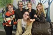 Lorianne Corriveau-Allard, présidente du conseil des jeunes (à... (François Gervais) - image 5.0