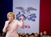 À l'approche du caucus d'Iowa, Hillary Clintonest désormais... (Photo Andrew Harnik, Associated Press) - image 1.0