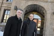Luc Boivin, conseiller municipal, et Sylvain Simard, architecte... (Photo Le Progrès-Dimanche, Mariane L. St-Gelais) - image 4.0