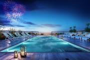 La piscine à débordement et la terrasse sur... (ILLUSTRATION FOURNIE PAR PRÉVEL) - image 4.0