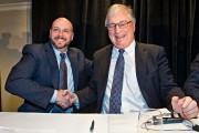 Richard Maltsbarger, président de Lowe's International et Robert... (photo Patrick Sanfaçon, La Presse) - image 3.0
