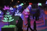 C'était féerique, hier soir, sur le site de... (Photo Le Quotidien, Rocket Lavoie) - image 1.0