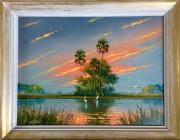 Firesky #5, de Sam Newton:huile sur panneaux de... (Photo tirée du site web de La Petite Mort Gallery) - image 1.0