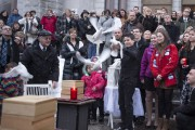 Une volée de colombes a été lâchée dans... (La Presse Canadienne) - image 1.0