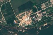 Une image-satellite du complexe nucléaire de Yongbyon, en... (IMAGE ARCHIVES AFP/GEOEYE SATELLITE IMAGE) - image 1.0