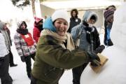 Linda Vigneault, participante, était tout sourire lors du... (Photo Le Quotidien, Mariane L. St-Gelais) - image 3.0