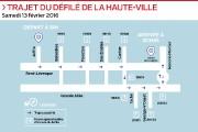 Un défilé qui prend fin au Centre Vidéotron. Des gens... (Infographie Le Soleil) - image 2.0