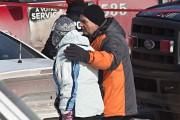 La famille et les voisins étaient sous le... (Photo Patrick Sanfaçon, La Presse) - image 1.0