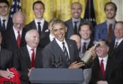 En accueillant à la Maison-Blanche les Blackhawks deChicago,... (Photothèque Le Soleil, AP, Pablo Martinez Monsivais) - image 3.0