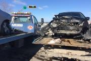Un accident impliquant deux véhicules a fait deux... (Photo Le Quotidien, Michel Tremblay) - image 2.0
