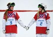 Chloé et Justine Dufour-Lapointe sur le podium aux... (PhotoDylan Martinez, archives Reuters) - image 2.0