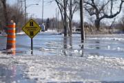 La rivière L'Acadie a débordé.... (PHOTO PATRICK SANFAÇON, LA PRESSE) - image 2.0