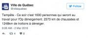 Pas de répit pour Dame nature. De 20 à 30... (Twitter de la Ville de Québec) - image 8.0