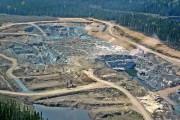 Vue aérienne de la fosse à ciel ouvert... (Photo fournie par Ressources Métanor) - image 1.1