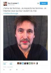 Guy A. Lepage a lancé un mouvement de... (Photo tirée de Twitter) - image 1.0