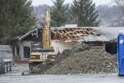 La démolition de l'édifice anciennement occupé par CHARMES... (Spectre Média Frédéric Côté) - image 1.0