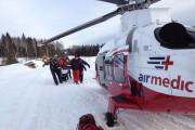 Le motoneigiste a été évacué d'urgence par hélicoptère.... (Courtoisie Airmedic) - image 3.0