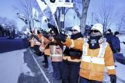 Des brigadières et brigadiers... (Photo Le Quotidien, Mariane L. St-Gelais) - image 3.0
