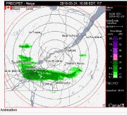 La région estrienne devrait être «épargnée » par... (Capture d'écran Environnement Canada) - image 1.0
