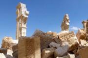 Les restes de l'Arc de Triomphe de la... (Photo Maher AL MOUNES, AFP) - image 1.0