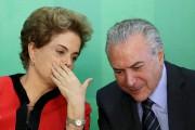 Dilma Rousseff et le vice-présidentMichel Temer au palais... (PHOTO REUTERS) - image 2.0