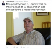 Le chroniqueur politique Jean Lapierre, quatre... (Image tirée de Twitter) - image 4.0