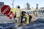 Une des conductrices aurait omis de s'arrêter à... (Photo Le Quotidien, Jeannot Lévesque) - image 1.0