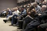Plusieurs dizaines de chauffeurs de taxi ont assisté... (Patrick Woodbury, LeDroit) - image 1.0