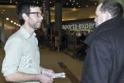 Alex Tyrrell, chef du Parti vert et candidat... (Photo Le Progrès-Dimanche, Rocket Lavoie) - image 6.0
