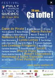 L'affiche de la programmation du Festival Pully Lavaux... (Collaboration spéciale Valérie Gaudreau) - image 3.0