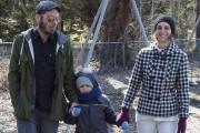 Gaël Steinmetz, Gabrielle Charbonneau et son fils Félix.... (Alain Dion, La Voix de l'Est) - image 3.0