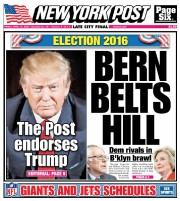 Le favori des primaires républicaines américaines Donald Trump... (Tirée du site Web du New York Post) - image 1.0