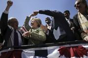 Hillary Clinton a fait quelques pas de danse,... (AP, Seth Wenig) - image 5.0