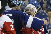 Le gardien du Lightning, Ben Bishop, et Pavel... (AP, Chris O'Meara) - image 3.0