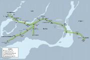 Le trajet duprojet de train électrique... (Photo tirée du communiqué de presse) - image 2.0