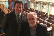 Le député Donald Martel avec le peintre Robert... - image 5.0