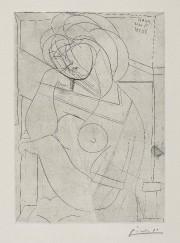Femme nue assise, la tête appuyée sur la... (Succession Picasso/SODRAC (2015)) - image 2.0