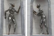 Les deux personnages de l'artiste Annie Pelletier sont... (Stéphane Lessard, Le Nouvelliste) - image 1.0
