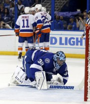 Ben Bishop n'a pas connu un grand match.... (AFP, Mike Carlson) - image 2.0