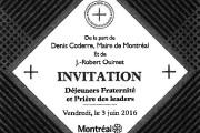 L'invitation du maire Denis Coderre pour un déjeuner... (IMAGE LA PRESSE) - image 1.0