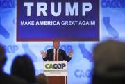 Donald Trump a prononcé un discours àl'hôtel Hyatt... (PHOTO GABRIELLE LURIE, AFP) - image 1.0