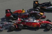 Sebastian Vettel, sur Ferrari, a été victime d'un... (Associated Press) - image 2.0