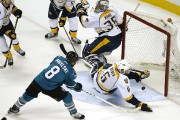 Le filet de Joe Pavelski... (Associated Press) - image 2.0