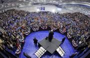 Bernie Sanders lors d'un rallye lundi à Fort... (PHOTO AP) - image 2.0