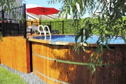 Les piscines hors terre arborent des parois de... (Fournie par Piscines Soucy) - image 1.0