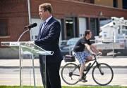 Le nouveau responsable du dossier vélo, Marc-André Gadoury,... (Photo André Pichette, La Presse) - image 1.0