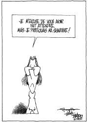 La première caricature de Bado au Droit... (Archives LeDroit) - image 2.0